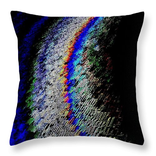 Abstract Throw Pillow featuring the digital art On The Periphery by Will Borden
