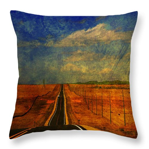 Long Road Throw Pillow featuring the photograph On The Road Again by Susanne Van Hulst