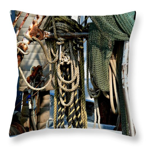 Ropes Throw Pillow featuring the photograph On The Ropes by Mark Grayden