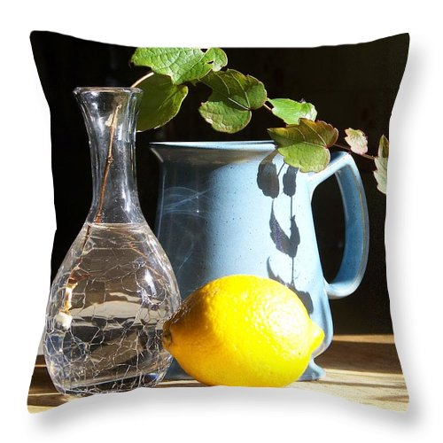 Vine Throw Pillow featuring the photograph On The Table 2 - Photograph by Jackie Mueller-Jones