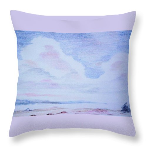 Landscape Painting Throw Pillow featuring the painting On the Way by Suzanne Udell Levinger