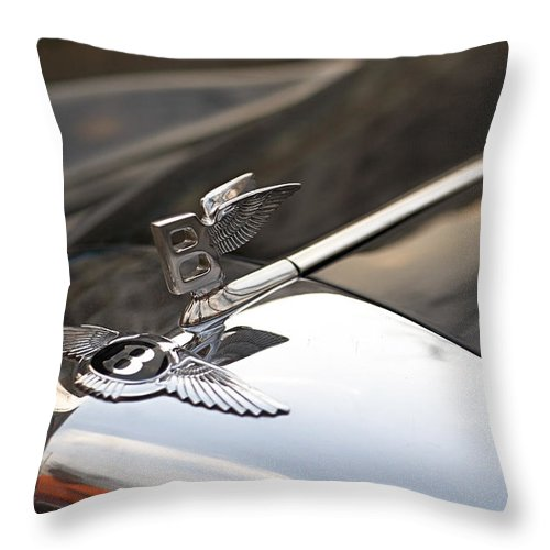 Bentley Throw Pillow featuring the photograph On The Wings by Antonio Ballesteros