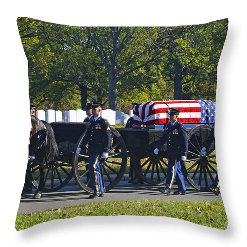 Arlington Throw Pillow featuring the photograph On Their Way To Rest by Paul W Faust - Impressions of Light