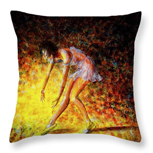 Dancer Throw Pillow featuring the painting Once In A Lifetime Iv by Nik Helbig