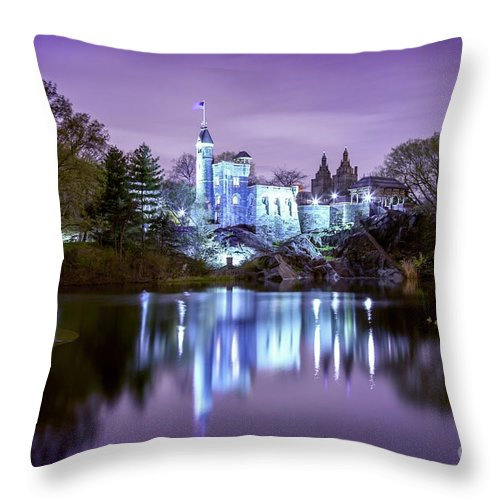 New York City Throw Pillow featuring the photograph Once Upon A Time by Az Jackson