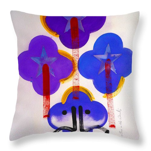 Drawing Throw Pillow featuring the painting Once Upon-a-time In The Woods by Charles Stuart