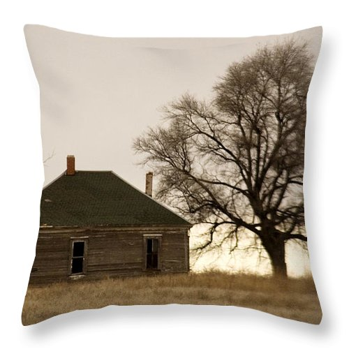 Americana Throw Pillow featuring the photograph Once Upon A Time In West Texas by Marilyn Hunt