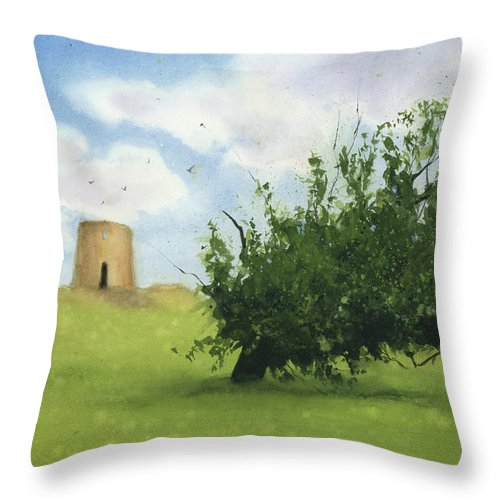 Watercolor Throw Pillow featuring the painting Once Upon A Time by Zapista OU