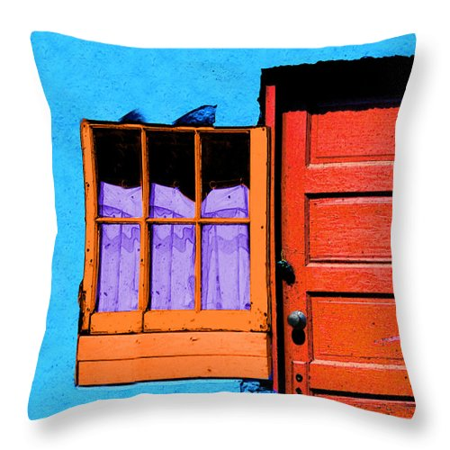 Abstract Throw Pillow featuring the photograph One 63 by Paul Wear