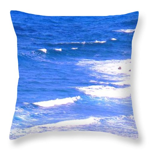 Atlantic Throw Pillow featuring the photograph One After Another by Ian MacDonald