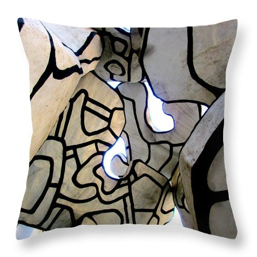 New York Throw Pillow featuring the photograph One Chase Manhattan Plaza 2 by Randall Weidner
