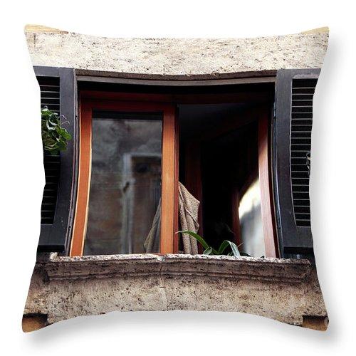 Once Covered Throw Pillow featuring the photograph One Covered by John Rizzuto