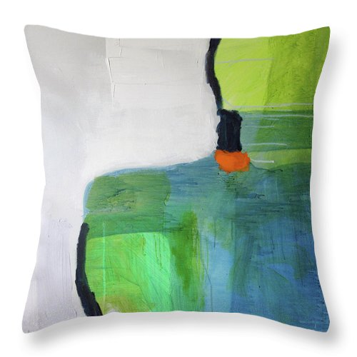 Abstract Throw Pillow featuring the painting One Day I Was Dreaming by Claire Desjardins