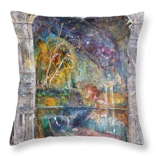 Art Throw Pillow featuring the painting One Evening by Patricia Allingham Carlson