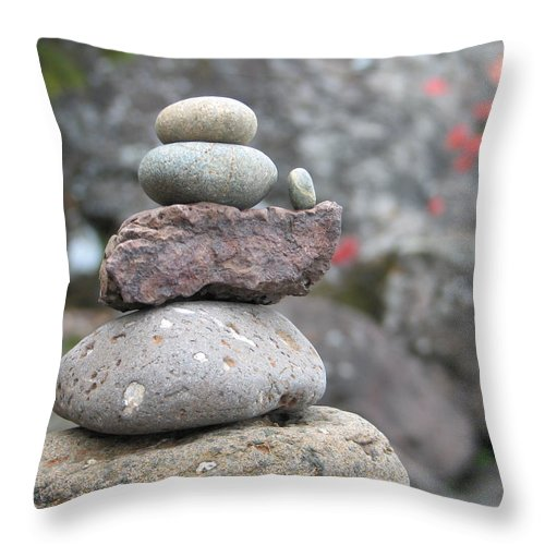 Rocks Throw Pillow featuring the photograph One More by Kelly Mezzapelle