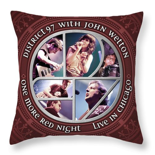 Throw Pillow featuring the digital art One More Red Night by District 97