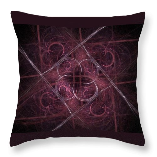 Kyoto Throw Pillow featuring the digital art One Night In Kyoto by NirvanaBlues