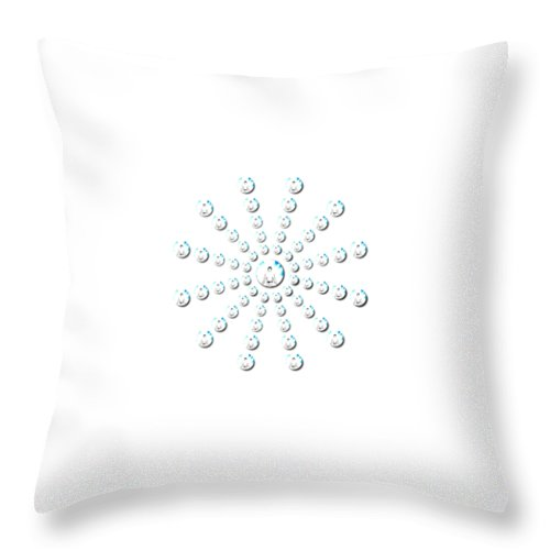 Art Throw Pillow featuring the digital art One by One Ironaut