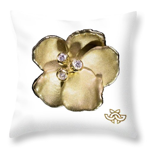 Pansy Throw Pillow featuring the digital art One Pansy by Jane Gordon