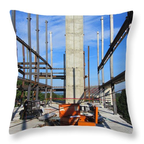Rob Seel Throw Pillow featuring the photograph One Point Monolith by Robert M Seel