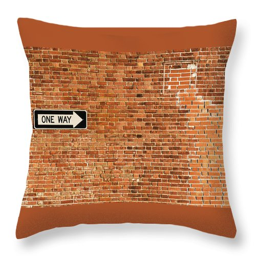 Wall Throw Pillow featuring the photograph One Way by Enrico Della Pietra