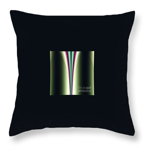 Digital Art Throw Pillow featuring the digital art One Way I by Dragica Micki Fortuna