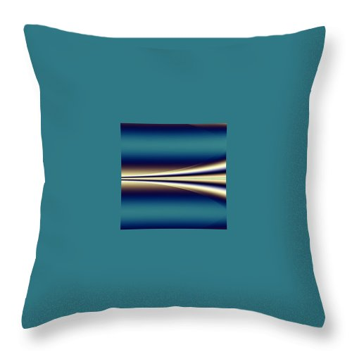 Digital Art Throw Pillow featuring the digital art One Way II by Dragica Micki Fortuna