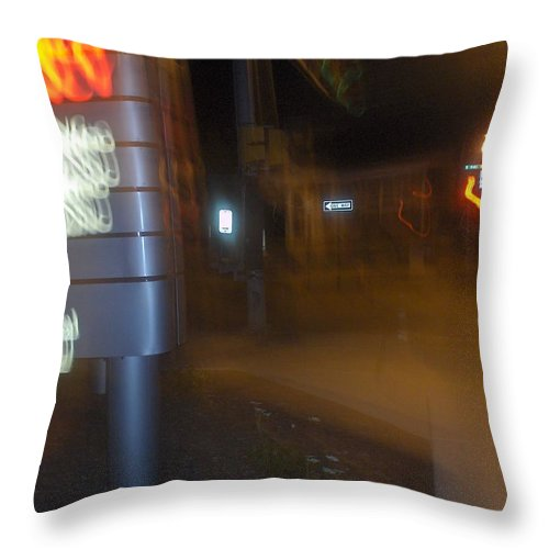 Photograph Throw Pillow featuring the photograph One Way by Thomas Valentine