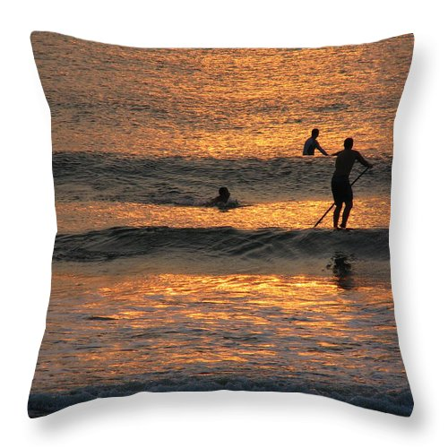 Art For The Wall...patzer Photography Throw Pillow featuring the photograph One With Nature by Greg Patzer
