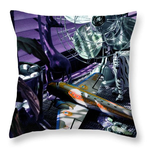 Still Life Throw Pillow featuring the photograph Only Angels Have Wings by Charles Stuart