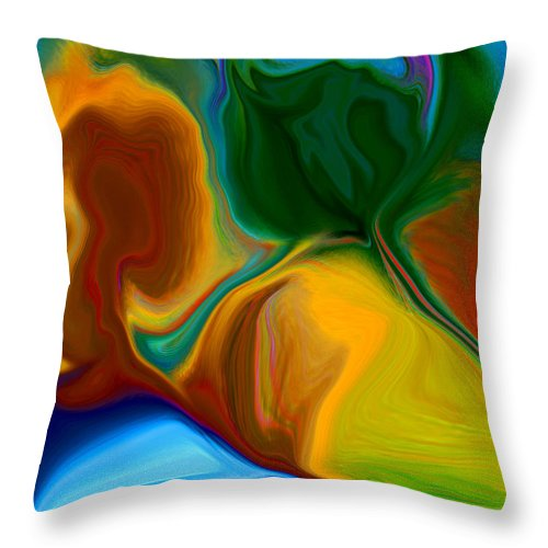 Throw Pillow featuring the digital art Only One Love by Ruth Palmer