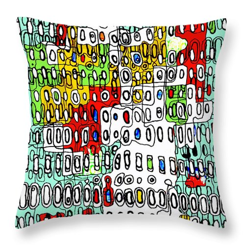 Cell Throw Pillow featuring the digital art Only When I Laugh 2 by Andy Mercer