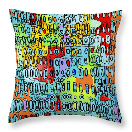 Cell Throw Pillow featuring the digital art Only When I Laugh 3 by Andy Mercer