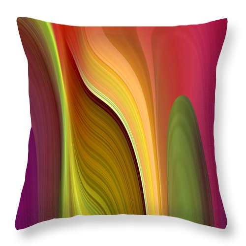 Abstract Throw Pillow featuring the digital art Oomph by Ruth Palmer