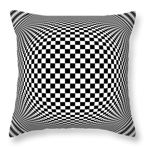 Abstract Throw Pillow featuring the digital art Op Art 1 by Anthony Caruso