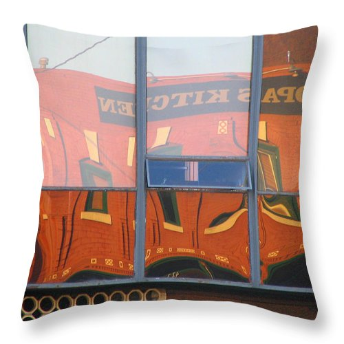 Architecture Throw Pillow featuring the photograph Opal's Kitchen by David Dunham