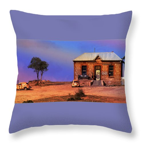 Landscape Throw Pillow featuring the photograph Open For Business by Holly Kempe