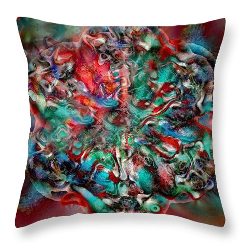 Heart Passion Life Throw Pillow featuring the digital art Open Heart by Veronica Jackson