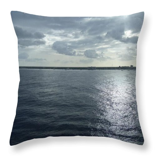 Digital Throw Pillow featuring the painting Open Water by Vell Thomas