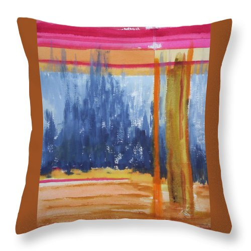 Landscape Throw Pillow featuring the painting Opening by Suzanne Udell Levinger