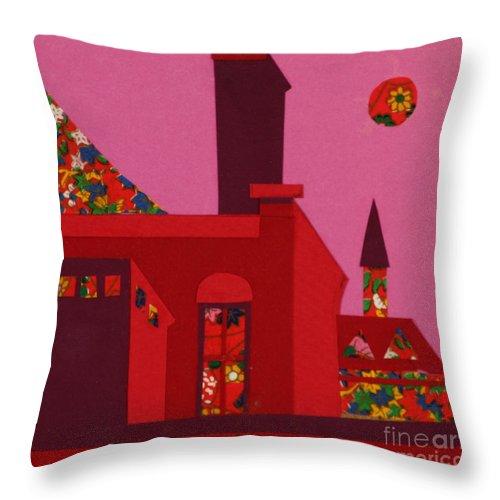 Opera House Throw Pillow featuring the mixed media Opera House by Debra Bretton Robinson