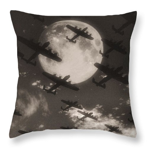 Aviaton Throw Pillow featuring the digital art Operation Moonlight by Richard Rizzo