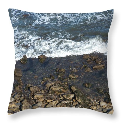 Ocean Throw Pillow featuring the photograph Opponents by Shari Chavira