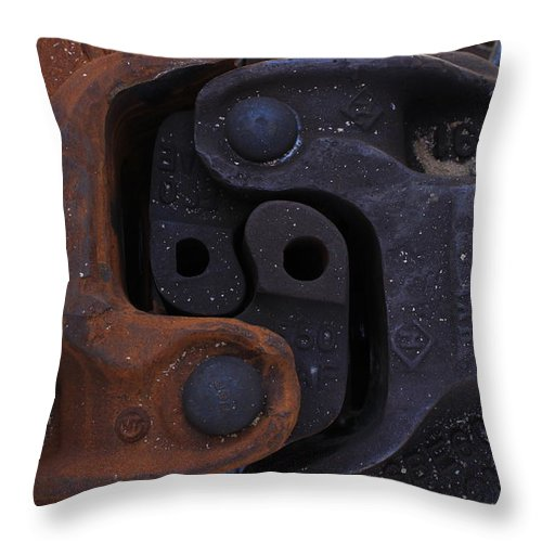 Train Throw Pillow featuring the photograph Opposites Attract by Wade Milne
