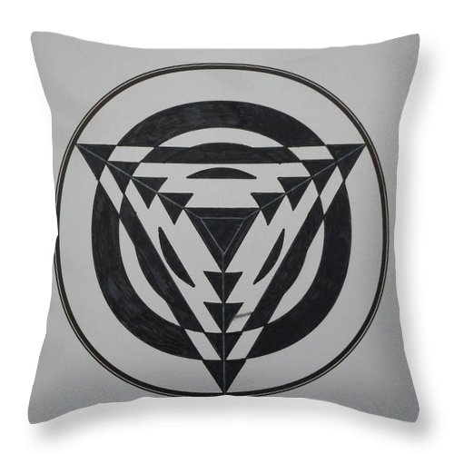 Concentric Throw Pillow featuring the painting Optical by Jesus Nicolas Castanon