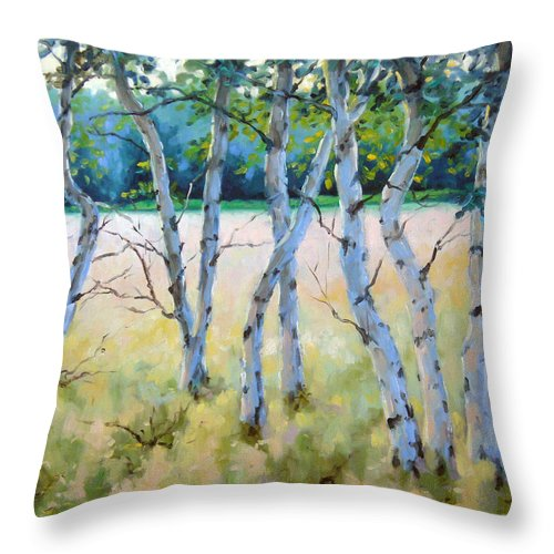 Art Throw Pillow featuring the painting Opus No 4 by Richard T Pranke