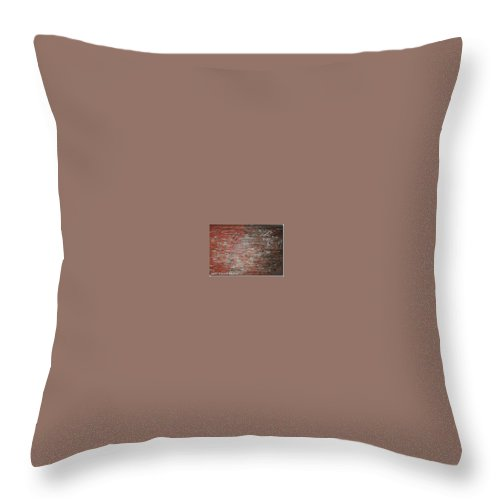 Abstract Throw Pillow featuring the painting Orange Crush by Elizabeth Klecker