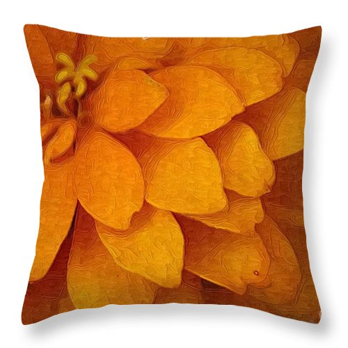 Flowers Throw Pillow featuring the photograph Orange Glow by Donna Bentley
