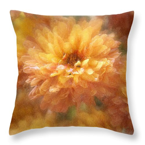 Flowers Throw Pillow featuring the photograph Orange Passion by Linda Sannuti
