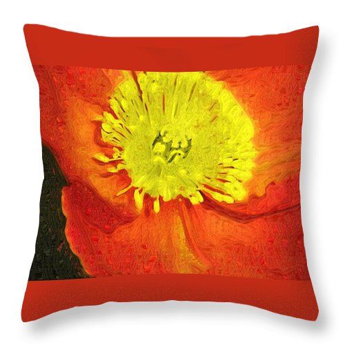Poppy Throw Pillow featuring the photograph Orange Poppy by Donna Bentley
